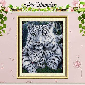 Tiger Care Painting Counted Cross Stitch 11CT 14CT Cross Stitch animals Cross Stitch Kits for Embroidery Home Decor Needlework