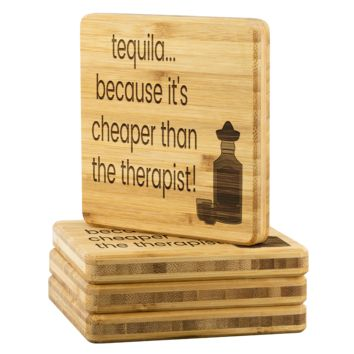 Tequila Bamboo Coffee Coasters