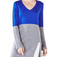 BCBGMAXAZRIAMackie Color-Blocked Tunic Sweater