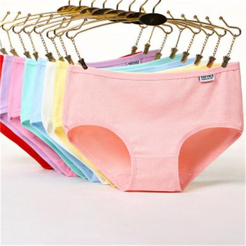 Cotton Underwear For Girl Solid Color Kids Panties Organic Children