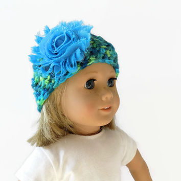 Knit Doll Hat - 18 Inch Doll Clothes - Crochet Beanie, Doll Accessories