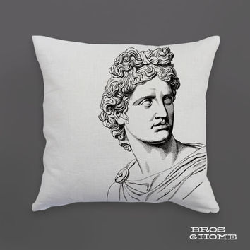 Apollo Throw Pillow | Screen Printed Greek Mythology Couch Pillowcase