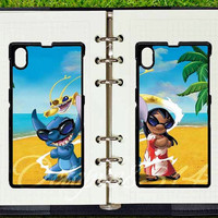 Disney Stitch and Lilo,Sony xperia  Z1 case,Best friends,in pair two pcs,google nexus 4 case,google nexus 5 case,samsung S3mini,S4mini case