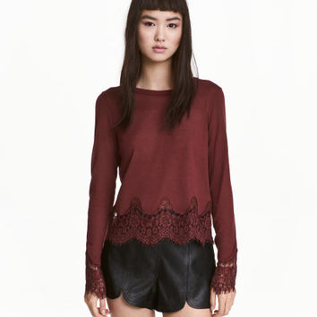 Sweater with Lace Details - from H&M