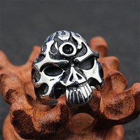 Fashion Stainless Steel Skull Punk Men's Rings (1 Pcs)