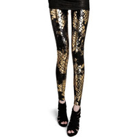 Lisli Legging For Women 2016 Fashion New Womens Gothic Punk Stretchy Leggings Pants Printed Cool Leopard Snake Printing 01B0321