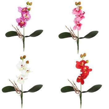 ICIKU7Q wedding decoration silk flowers for a wedding Triple Head Artificial Butterfly Orchid Silk Flower Home Wedding Decor #303