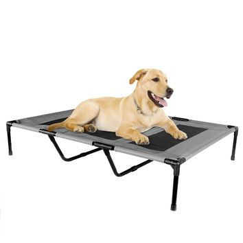 Elevated Dog Bed for Indoor Outdoor Pet Portable Bed Extra Large - Grey