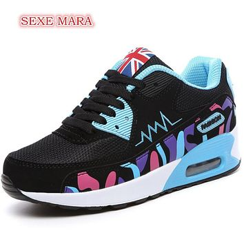 Women's Multi-Color Air Cushioned Athletic Tennis Shoes