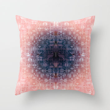 Crystal radial pattern Throw Pillow by VanessaGF
