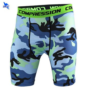 Summer Camouflag Running Shorts GYM Short Pants Quick-drying Stretch Football Trousers Jogging Compression Tights Fitness Men