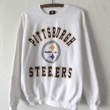 Pittsburgh Steelers Vintage Sweatshirt - 90s NFL Football Sporty Throwback Jumper - Mens size L