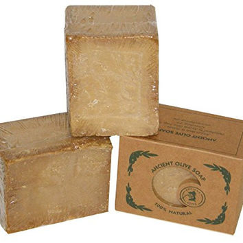 Ancient Olive Soap Classic Aleppo Style Soap Bars, Unscented, 15.6 Ounce