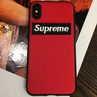 Supreme mobile phone shell 6s iphone8plus mobile phone shell red