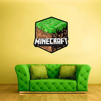 Full Color Wall Decal Vinyl Sticker Decor Art Bedroom Design Mural Like Paintings Minecraft Video Game Logo Block Grass (col448)