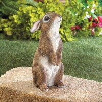 Realistic Standing Rabbit Garden Decor