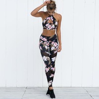 Floral Print Workout Leggings