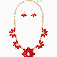 Floral Box-Chain Necklace Set | Gold Jewelry | charming charlie