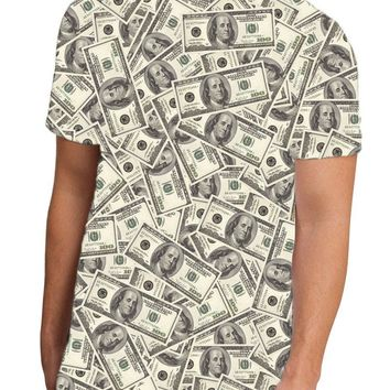 Benjamins Men's Sub Tee Dual Sided All Over Print T-Shirt by TooLoud