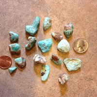 Turquoise 1oz of raw lapidary stones natural perfect for jewelry making or craft supply turquoise rock turquoise stones