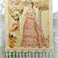 Tea Time A Wall Sign 8 x 13