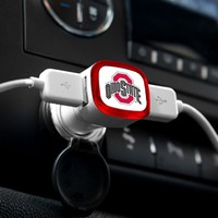 NCAA Ohio State Buckeyes Car Charger, White