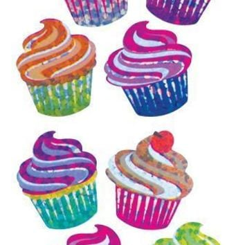 Jillson & Roberts Bulk Roll Prismatic Stickers, Mini Cupcakes (50 Repeats)