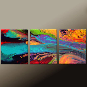 Abstract Art Prints Set 11x14 ea Contemporary Modern Wall Art by Destiny Womack  - dWo - Soul Searching