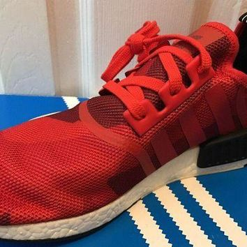 PEAPONY8 NEW Adidas NMD R1 Runner Boost Red Camo Yeezy Men's Sz 12 S79164