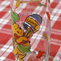 Vintage Winnie the Pooh Anchor Hocking Whats Cooking Pooh Glass Panchosporch