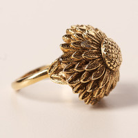 Vintage Floral Dome Adjustable Ring
