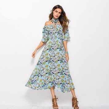 Boho Off the Shoulder Sun Dress