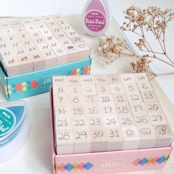 Day By Day CUTE & WRITE rubber stamp
