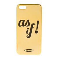 Clueless Gold As If! Cover for iPhone 5 and 5s