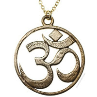 Om Peace Bronze Pendant Necklace on Sale for $39.95 at HippieShop.com