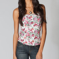 FULL TILT Floral Womens Corset Top