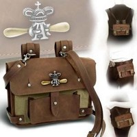 Alchemy Empire: Steampunk Wing-Commander's Leather Bag: Amazon.co.uk: Kitchen & Home