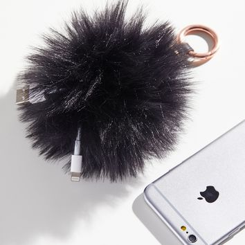 Free People Pom Pom Charger Keychain