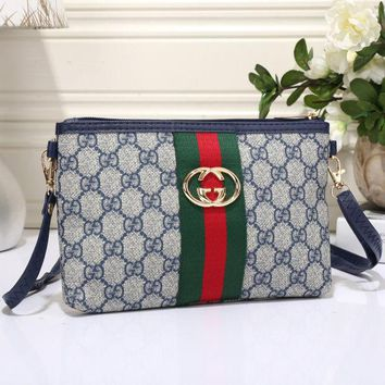 Gucci Women Leather Zipper Shopping Crossbody Shoulder Bag Satchel H