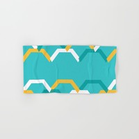 Teal Steps Hand & Bath Towel by spaceandlines