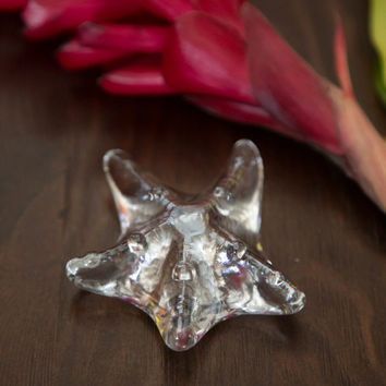 Starfish Paperweight - Crystal Clear