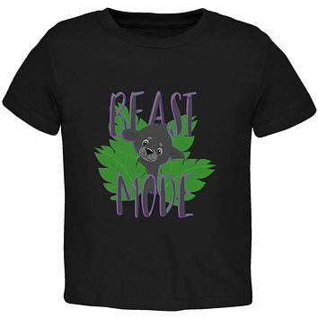 Beast Mode Cute Black Panther Cub Toddler T Shirt