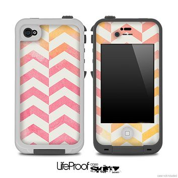 Vintage Orange V2 Chevron Pattern Skin for the iPhone 5 or 4/4s LifeProof Case