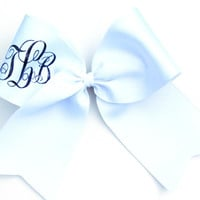 Custom Glitter Monogrammed Personalized Cheer Bow