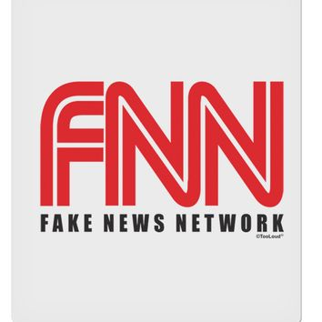 """Fake News Network Funny 9 x 10.5"""" Rectangular Static Wall Cling by TooLoud"""