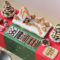 Christmas - Dessert Table - €400.00 : PetitPlat, Miniature Food Art