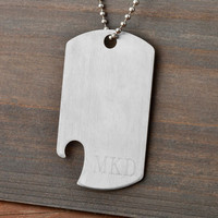 Dog Tag Bottle Opener- Groomsmen Gifts - Gifts for Men - Birthdays (1088)