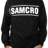 Sons Of Anarchy Long Sleeve T-Shirt - Solid SAMCRO