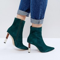 KG by Kurt Geiger Raine Suede Heeled Ankle Boots at asos.com