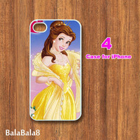 Belle Princess-iPhone  4 case,iphone 5 Case, in durable plastic or rubber silicone case